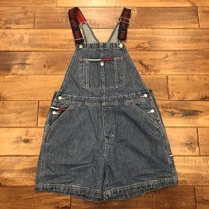 Vtg Tommy Girl Bib Short Overalls Jr Size 11
